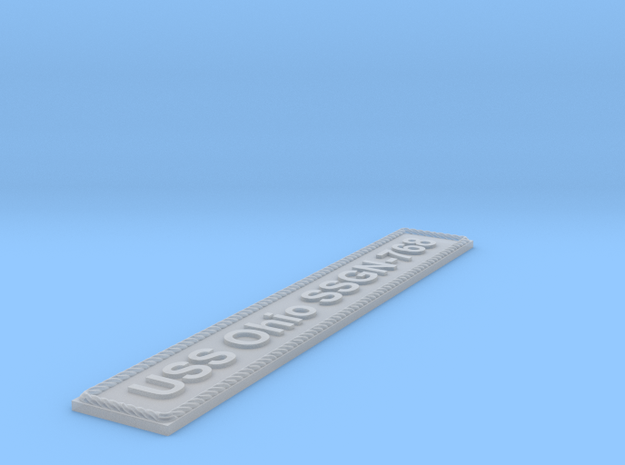 Nameplate USS Ohio SSGN-768 in Smoothest Fine Detail Plastic