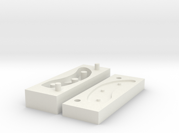 Toughware Equilux soft covers - silicone mold L in White Natural Versatile Plastic