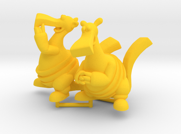 Bic and Bac Figurines in Yellow Strong & Flexible Polished: Large