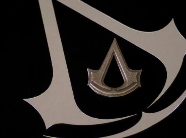 AC: Creed Pendant in Polished Bronzed Silver Steel
