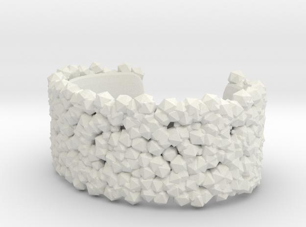 Bracelet Structure in White Natural Versatile Plastic