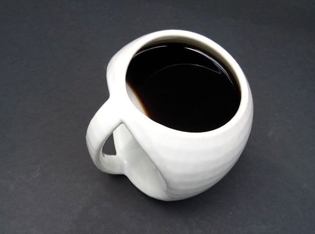egg mug 3d printed Glazed Ceramics