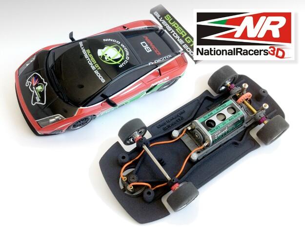 3D Chassis - Ninco Lamborghini Gallardo - Combo in Black Natural Versatile Plastic