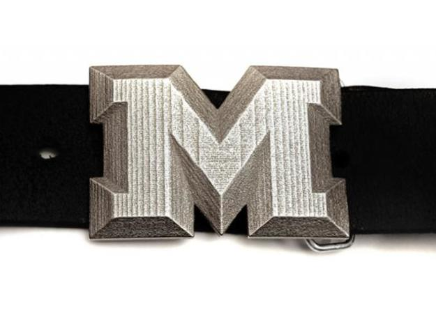Buckle M in Polished Bronzed Silver Steel