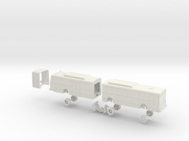 HO Scale Bus New Flyer D60 Samtrans 500s in White Natural Versatile Plastic