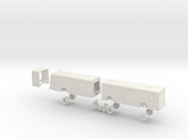 HO Scale Bus New Flyer D60 AC Transit 1900s in White Natural Versatile Plastic