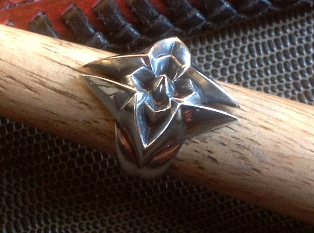 Flower Ring - Size - 9 (18.95 mm) in Polished Silver