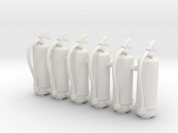 Fire Extinguisher 01. 1:16 scale in White Natural Versatile Plastic