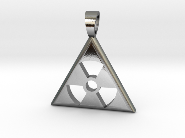 Nuclear danger [pendant] in Polished Silver