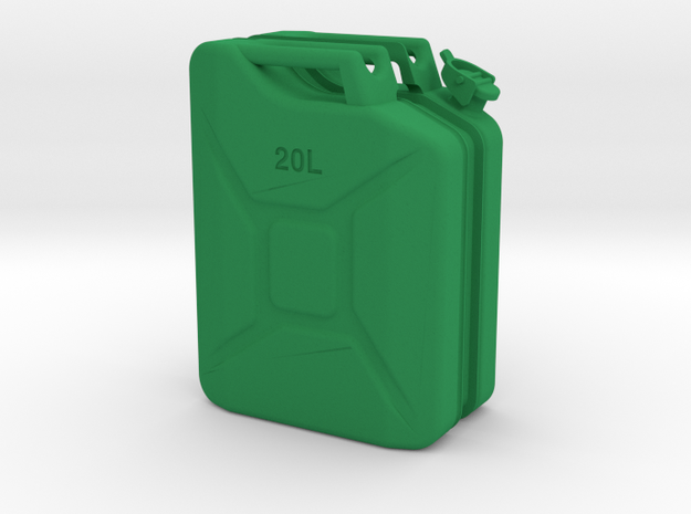 1/6th Scale Jerry Can / gas can in Green Processed Versatile Plastic