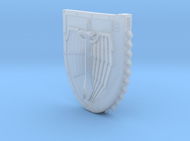Right-handed Chainshield (Winged Sword design) in Frosted Ultra Detail: Small