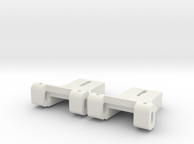 Front Axle Carrier for Carrera Universal 132 LONG in White Natural Versatile Plastic
