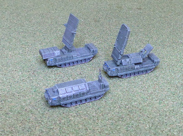 SA-12 / SA-23 SAM Battery Cmd. Section 1/285 in Smooth Fine Detail Plastic