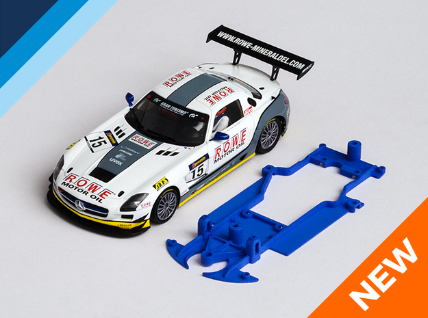 1/32 ScaleAuto Mercedes GT3 Chassis for slot.it AW in Blue Processed Versatile Plastic
