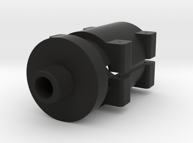 14mm- Barrel Adapter for Sniper Rifle in Black Strong & Flexible