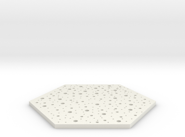 Thin Coaster in White Natural Versatile Plastic