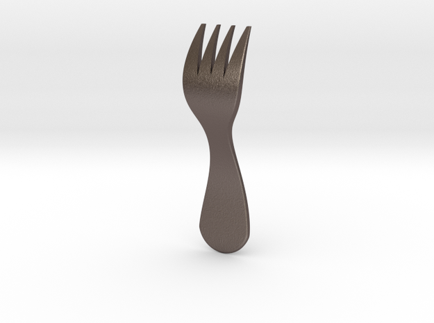 Fork Attachment for Fork Ring in Polished Bronzed Silver Steel