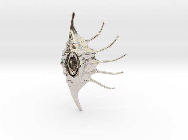 LambisNecklance in Rhodium Plated Brass