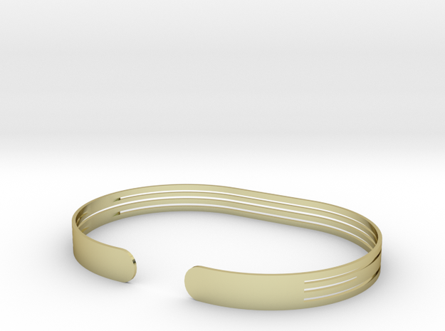 Extended Stripe Bracelet in 18k Gold Plated Brass