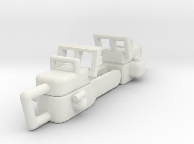 Chainsaw 2PK 1-18 Scale in White Natural Versatile Plastic