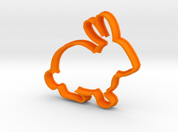 Rabbit Cookie Cutter in Orange Processed Versatile Plastic