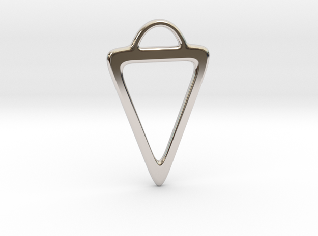 Triangle Pendant in Rhodium Plated Brass