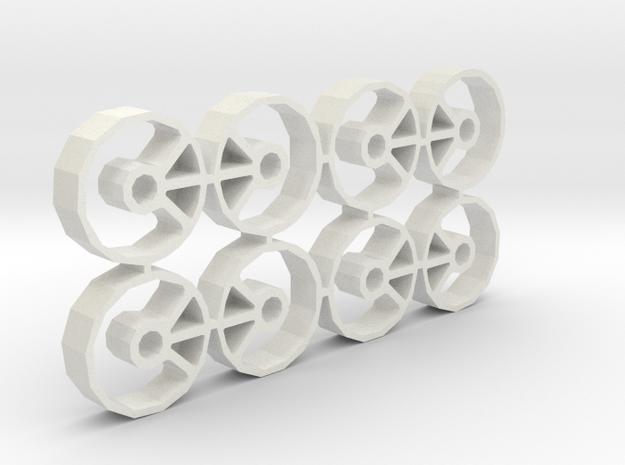 Guide holders, 19mm OD in White Natural Versatile Plastic