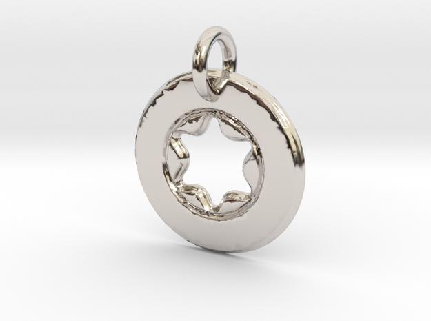 Star Platine Keyring in Platinum