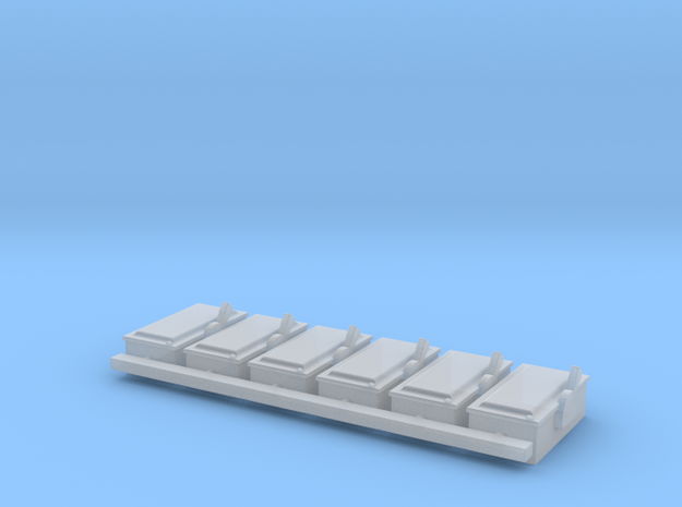 1/64 Electrical 100A Disconnect Boxes in Smooth Fine Detail Plastic