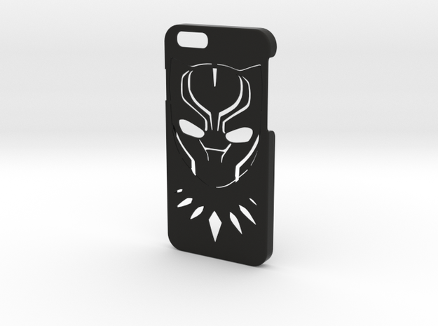 Black Panther Phone Case-iPhone 6/6s in Black Natural Versatile Plastic