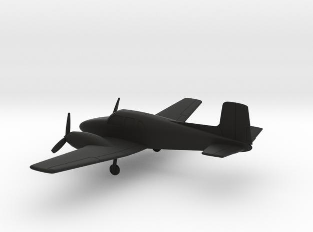 Beechcraft Model 50 Twin Bonanza in Black Natural Versatile Plastic: 1:160 - N