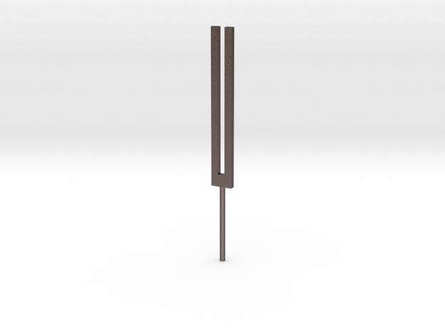 Tuning Fork in Polished Bronzed Silver Steel