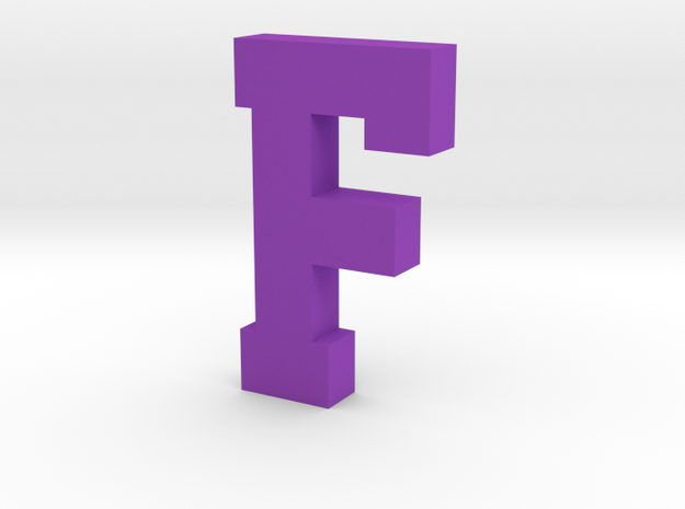 Decorative Letter F in Purple Processed Versatile Plastic