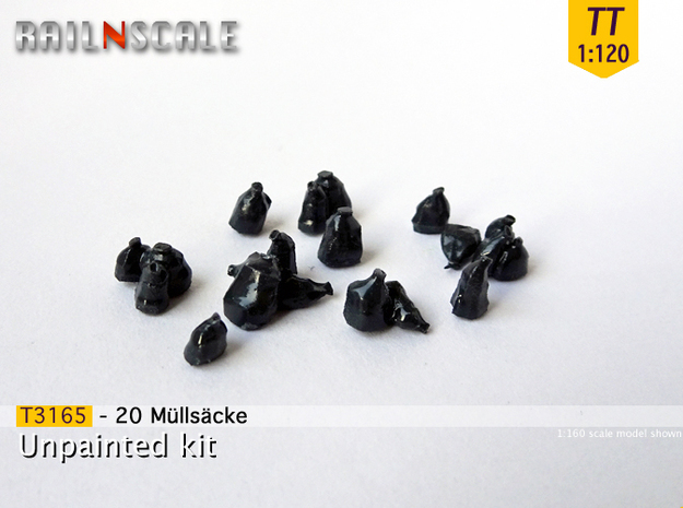 20 Müllsäcke (TT 1:120) in Smooth Fine Detail Plastic