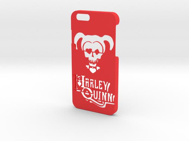 Harley Quinn Phone Case- iPhone 6/6s in Red Processed Versatile Plastic
