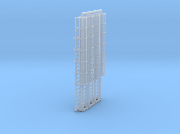 N Scale Cage Ladder 42mm (Top) in Smooth Fine Detail Plastic