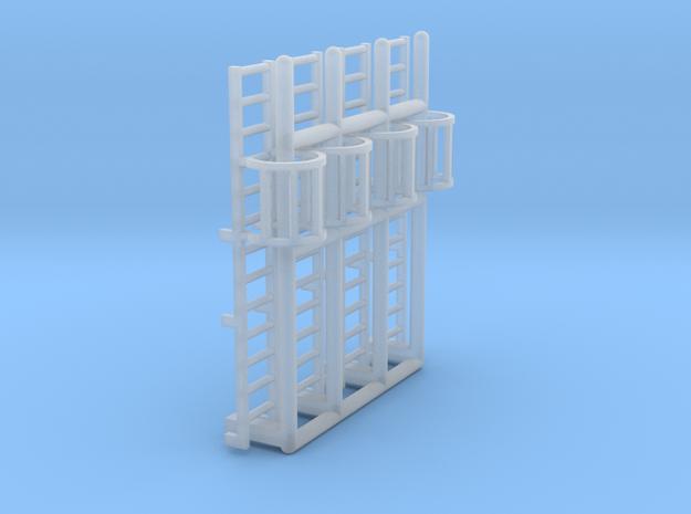 N Scale Cage Ladder 26mm (Platform) in Smooth Fine Detail Plastic