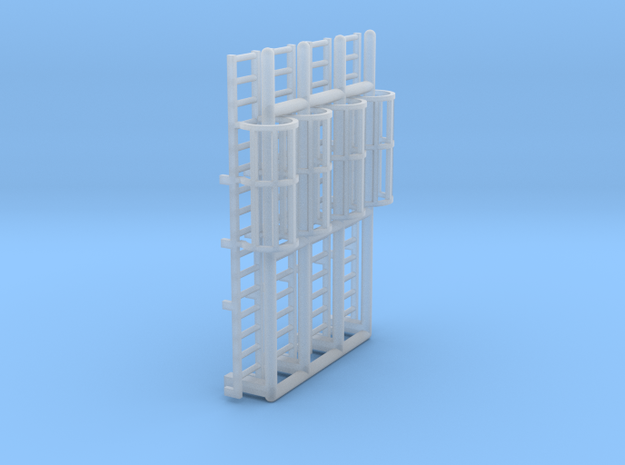 N Scale Cage Ladder 32mm (Platform) in Smooth Fine Detail Plastic