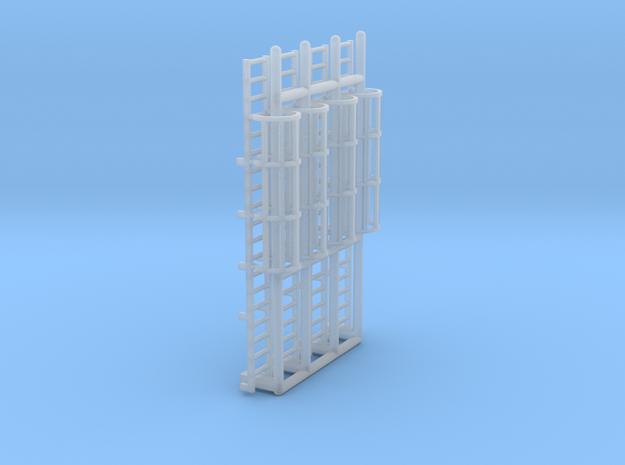 N Scale Cage Ladder 38mm (Platform) in Smooth Fine Detail Plastic