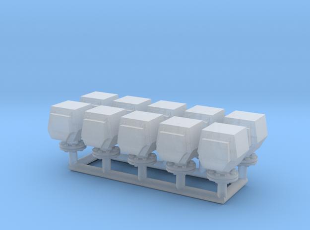 10 ventilation heads - 10 Lüfterköpfe_typ2, 1:50 in Smooth Fine Detail Plastic