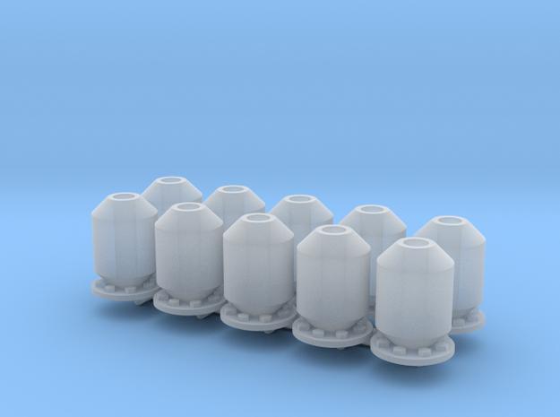 10 silencers, 10 Dämpfer_typ3, 1:50 in Smooth Fine Detail Plastic