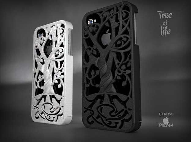 "Iphone 4, 4S case ""Tree of life"" in White Natural Versatile Plastic"