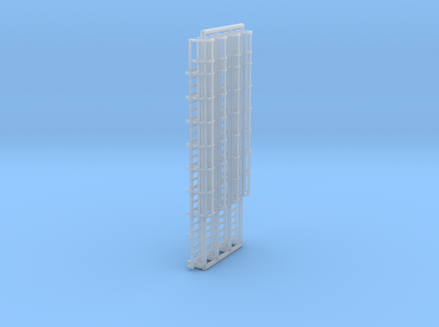 N Scale Cage Ladder 52mm (Top) in Smooth Fine Detail Plastic
