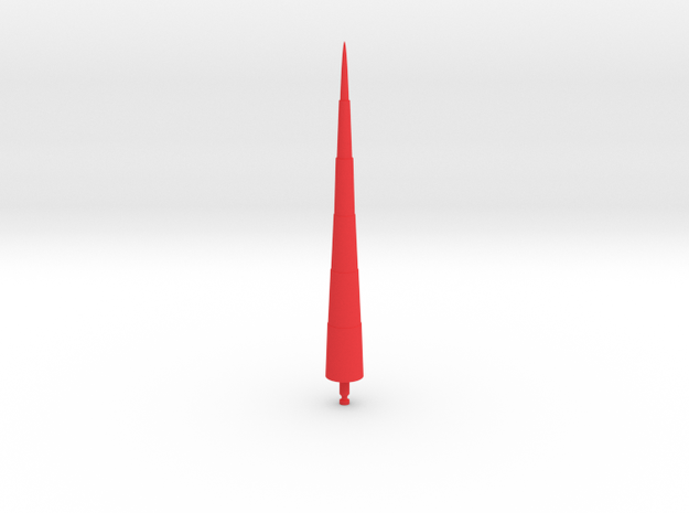 Steel Jeeg Lance Missile in Red Strong & Flexible Polished