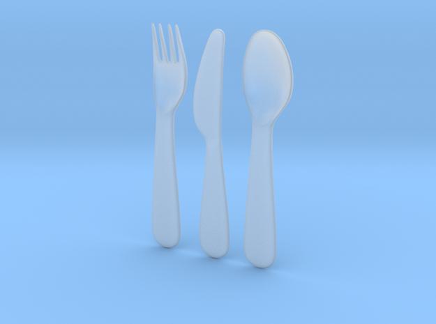 1/6 scale IKEA KALAS cutlery set in Smoothest Fine Detail Plastic