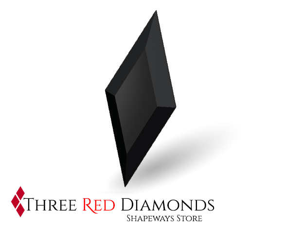 Rhombus Gem (for CAR CHASE rhombus ring) in Black Natural Versatile Plastic