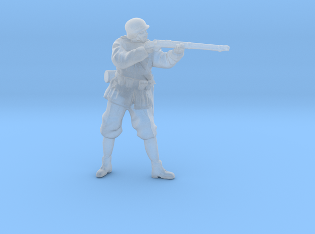 1/35th scale Hungarian soldier standing, firing in Smooth Fine Detail Plastic
