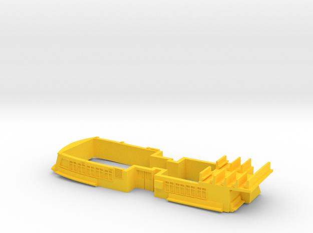Sydney Ferry Main Deck Saloon in Yellow Processed Versatile Plastic