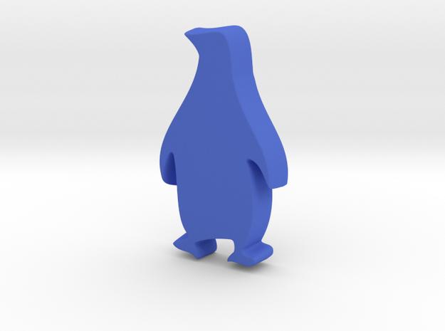 Pure Penguin in Blue Processed Versatile Plastic