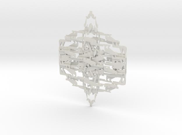 Ribbed Φ in White Natural Versatile Plastic